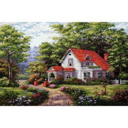 MER K-170 Stickpackung - Haus mit Garten