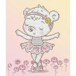 DD5.057 Diamond Painting Set - Teddybär Ballerina