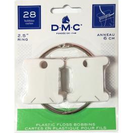 AC 6105-12 Plastikwickelkarten DMC mit einem Ring