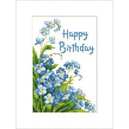 ZU 10678 Stickpackung - Karte - Happy Birthday