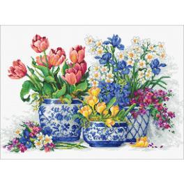 LS B2386 Stickpackung - Frühlingsblumen