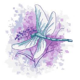 GC 10463 Gedruckte Kreuzstichvorlage - Libelle