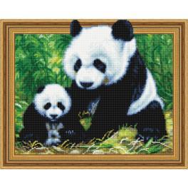 5PD4050050 Diamond Painting Set - Panda mit einem Jungen