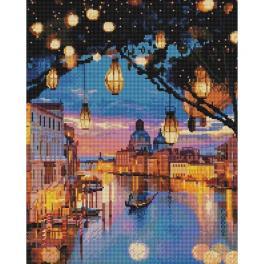 PD4050180 Diamond Painting Set - Lämpchen über Venedig