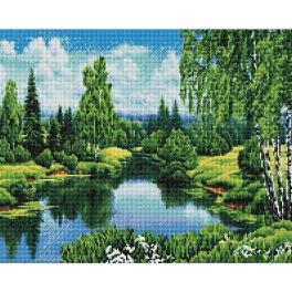 PD4050165 Diamond Painting Set - Sommer am Fluss