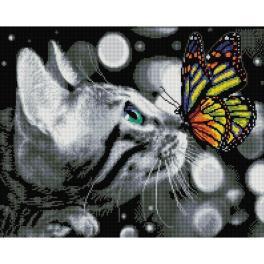 PD4050177 Diamond Painting Set - Schmetterling und Kätzchen
