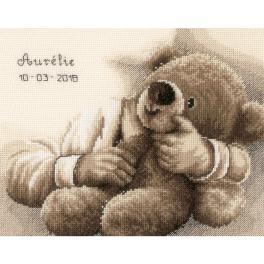 VPN-0163748 Stickpackung - Geburtsschein - Teddybär