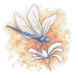 GC 10466 Gedruckte Kreuzstichvorlage - Pastelllibelle