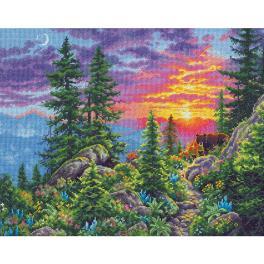DIM 70-35383 Stickpackung - Sonnenuntergang in den Bergen