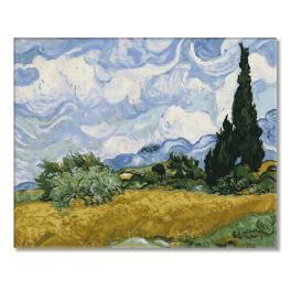 PC4050521 Malen nach Zahlen - Weizenfeld mit Zypressen - V. van Gogh
