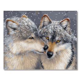 PC4050810 Malen nach Zahlen - Liebe unter Wölfen