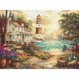 LETI 962 Stickpackung - Ferienhaus am Meer