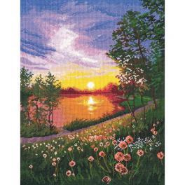 OV 1356 Stickpackung - Sonnenuntergang im Sommer