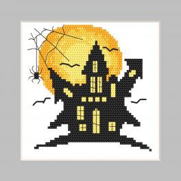 ZU 10474 Stickpackung - Karte - Gruseliger Herrenhof