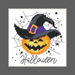 W 10473 Kreuzstichvorlage PDF - Karte - Fröhliches Halloween