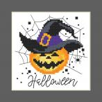 GU 10473 Gedruckte Kreuzstichvorlage - Karte - Fröhliches Halloween