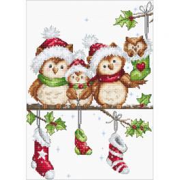 LS B1186 Stickpackung - Weihnachtseulen