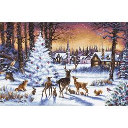 LETI 947 Stickpackung - Weihnachtswald